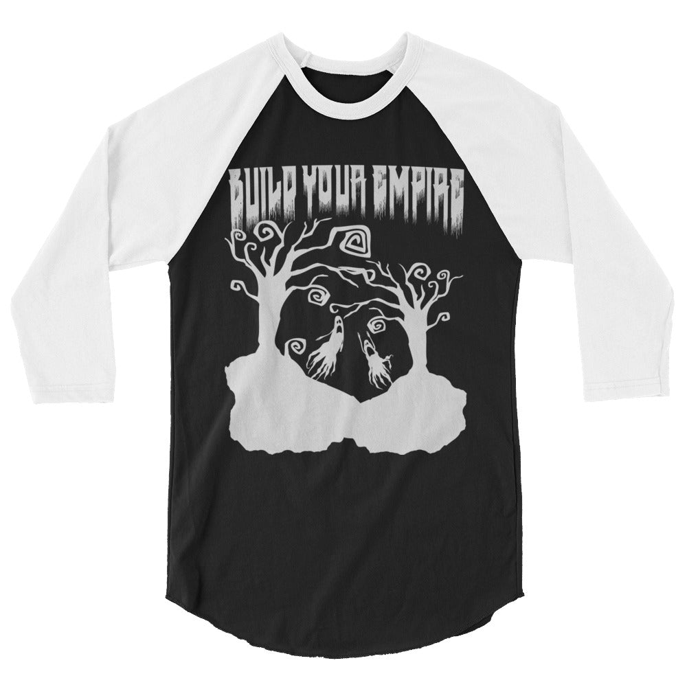 Build Your Empire Everyday is Halloween Black Unisex 3/4 Sleeve Raglan Shirt | Men's Shirt | Nu Goth & Alternative Apparel | Build Your Empire Clothing Co.