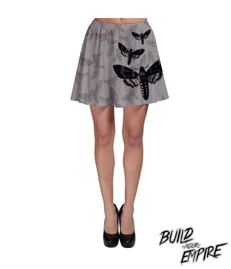 Moth to Flames Skirt - Build Your Empire Clothing Co | Nu goth & Alternative Apparel - 1