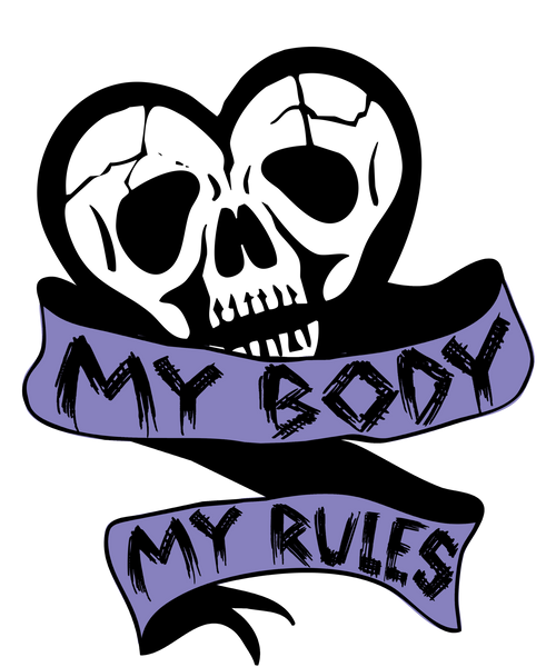 My Body, My Rules Women's Crop Top | Women's Shirts | Nu Goth & Alternative Apparel | Build Your Empire Clothing Co.