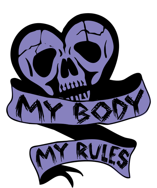 My Body, My Rules Women's Crop Top [Black] | Women's Shirts | Nu Goth & Alternative Apparel | Build Your Empire Clothing Co.