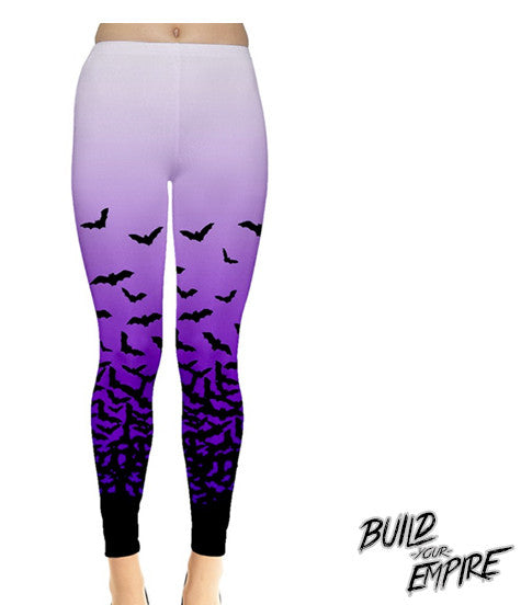 Fade to Bats Leggings - Build Your Empire Clothing Co | Nu goth & Alternative Apparel - 1