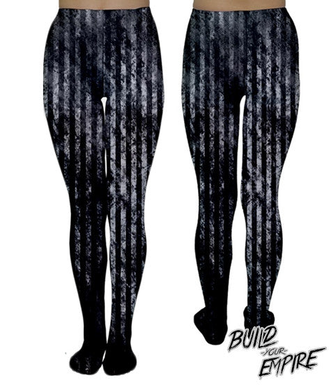 Grunge Stripes Tights | Tights | Nu Goth & Alternative Apparel | Build Your Empire Clothing Co.