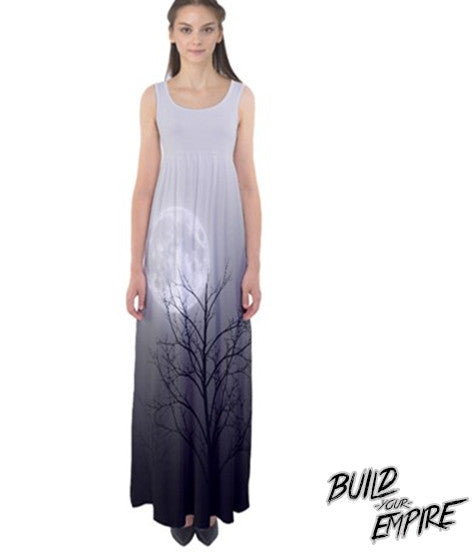 Full Moon Light Maxi Dress | Dress | Nu Goth & Alternative Apparel | Build Your Empire Clothing Co.
