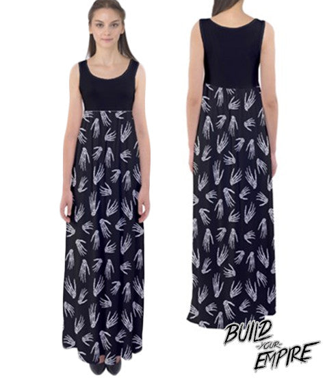 Idle Hands Maxi Dress | Dress | Nu Goth & Alternative Apparel | Build Your Empire Clothing Co.