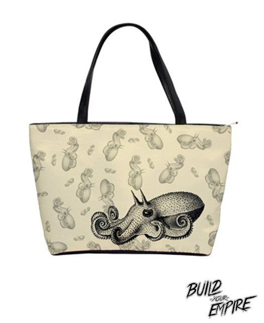 Squid Ink Tattoo Handbag | Purse | Nu Goth & Alternative Apparel | Build Your Empire Clothing Co.