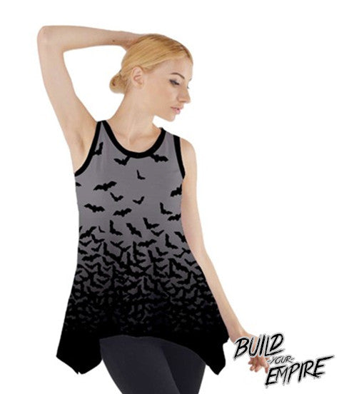 Fade to Bats Tank | Women's Shirts | Nu Goth & Alternative Apparel | Build Your Empire Clothing Co.