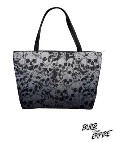 Pile of Skulls Handbag | Purse | Nu Goth & Alternative Apparel | Build Your Empire Clothing Co.