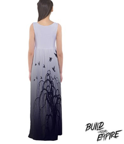Quoth the Raven, Nevermore Maxi Dress | Dress | Nu Goth & Alternative Apparel | Build Your Empire Clothing Co.