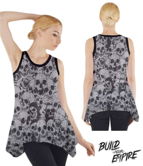 Pile of Skulls Tank | Women's Shirts | Nu Goth & Alternative Apparel | Build Your Empire Clothing Co.