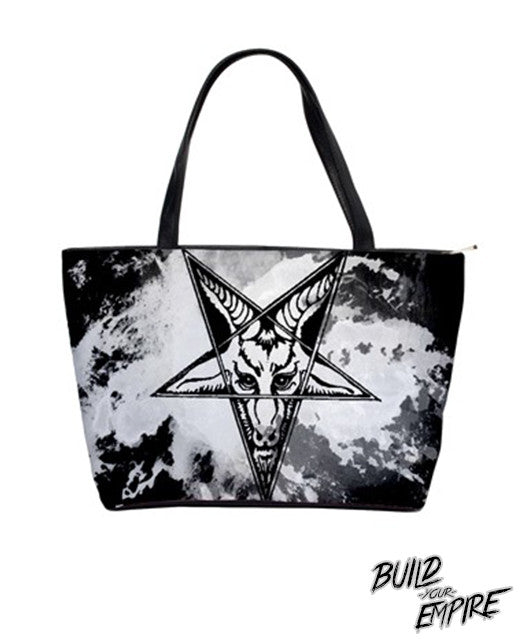 Question Everything Baphomet Handbag | Purse | Nu Goth & Alternative Apparel | Build Your Empire Clothing Co.
