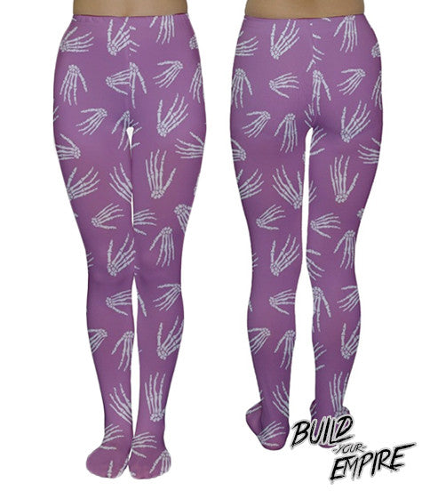 Idle Hands Pastel Tights | Tights | Nu Goth & Alternative Apparel | Build Your Empire Clothing Co.