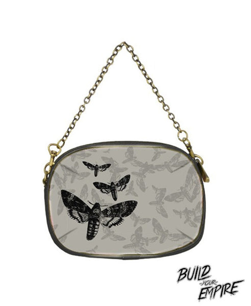 Moth to Flames Clutch Purse | Clutch | Nu Goth & Alternative Apparel | Build Your Empire Clothing Co.