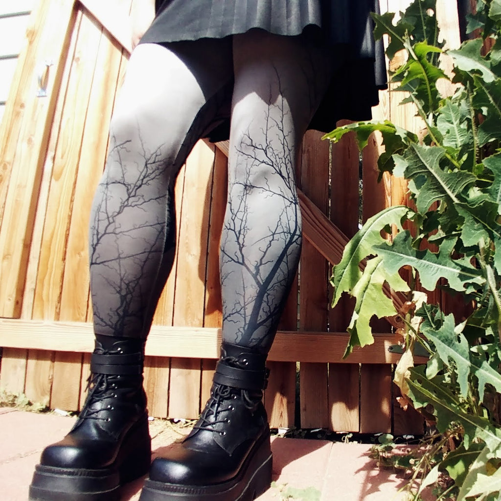 Full Moon Light tights | Tights | Nu Goth & Alternative Apparel | Build Your Empire Clothing Co.