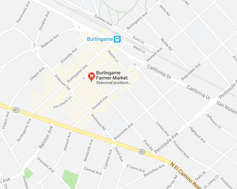 Burlingame Farmers Market location