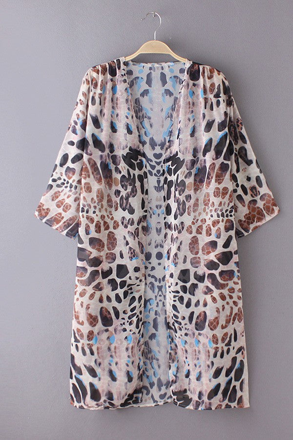 Cover Up - Summer Leopard Print Beach