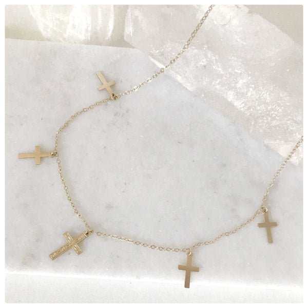 Crosses Choker - New Vie Shop