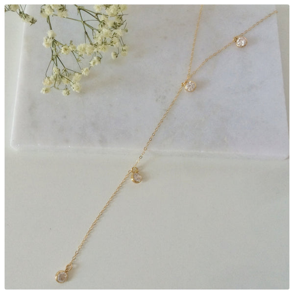 Stone Lariat Necklace - New Vie Shop