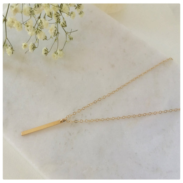 Vertical Bar Necklace - New Vie Shop