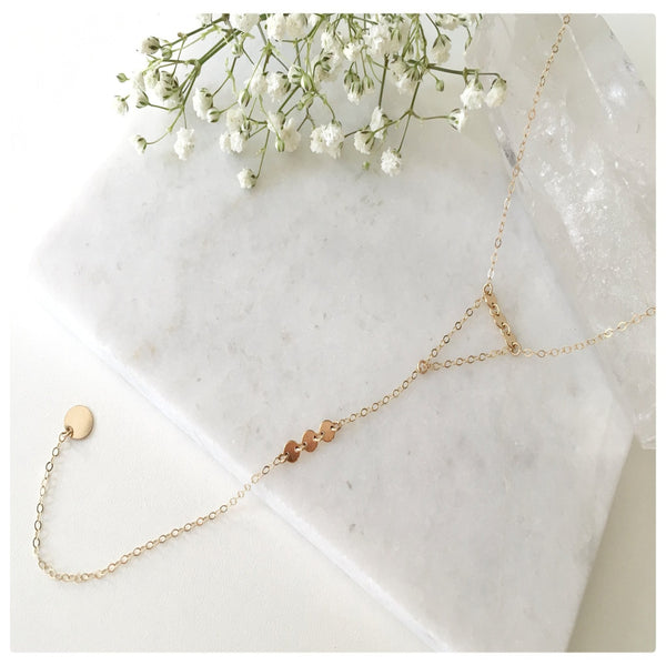 Coin Lariat Necklace - New Vie Shop