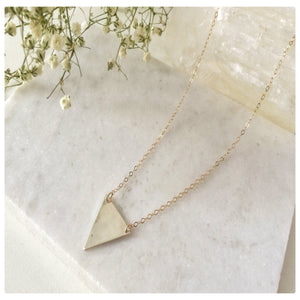 Silver and Gold Triangle Necklace - New Vie Shop
