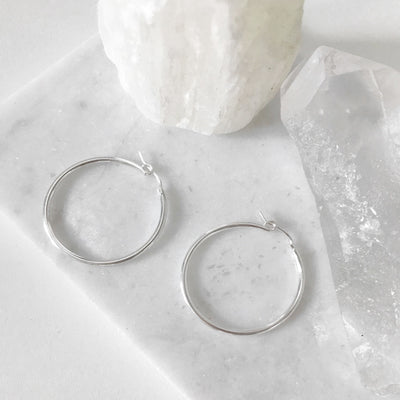 Sterling Silver Hoop Earrings - New Vie Shop
