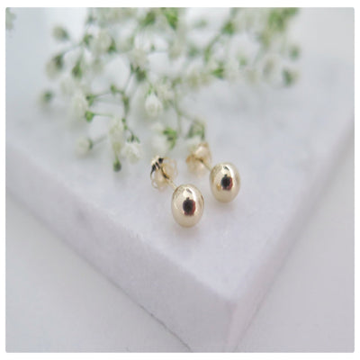 14k Solid Gold Ball Stud Earring - New Vie Shop
