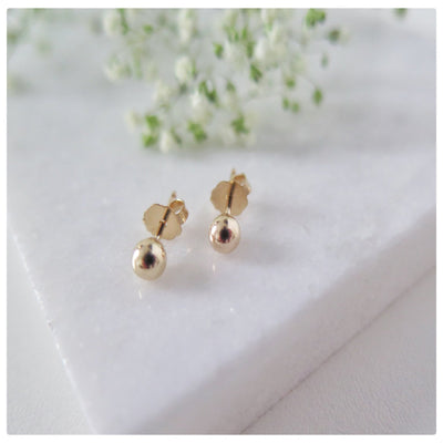 14k Gold Filled Tiny Ball Stud earrings - New Vie Shop