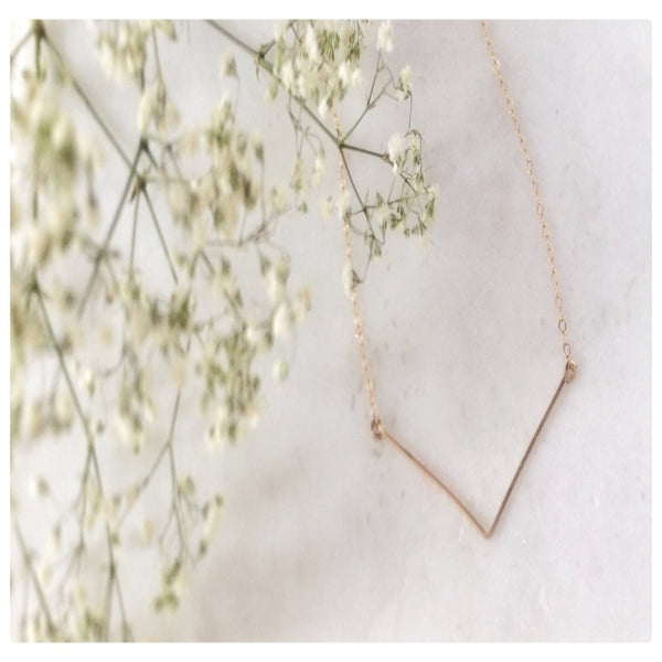 Simple V Necklace - New Vie Shop