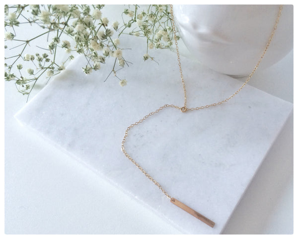 Bar Lariat Necklace - New Vie Shop