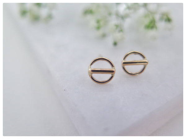 Open Circle Bar Studs - New Vie Shop