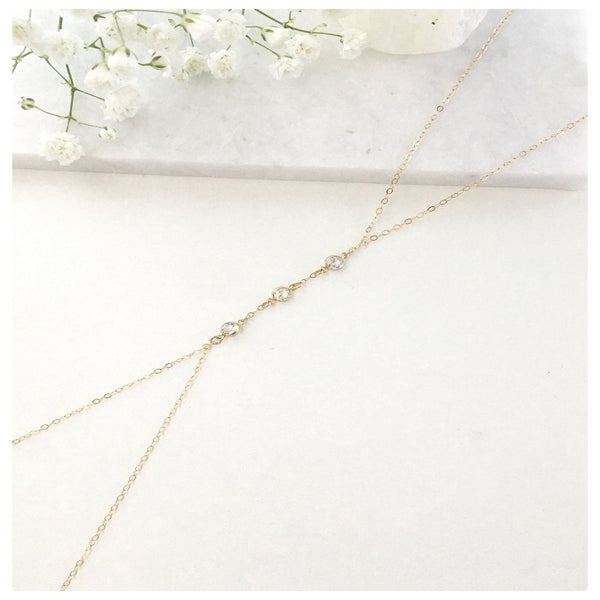 3 Stone Body Chain - New Vie Shop