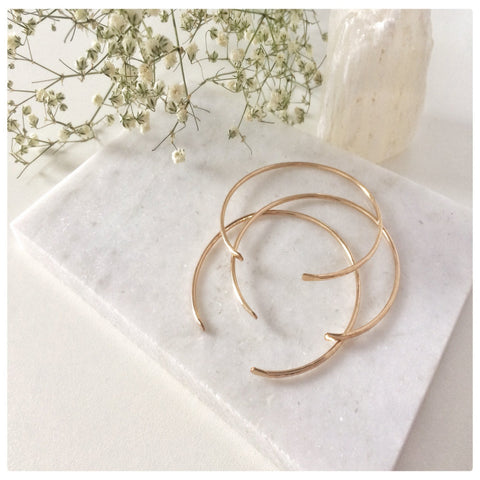 Set of 3 Open hammered Bangle Bracelet - New Vie Shop
