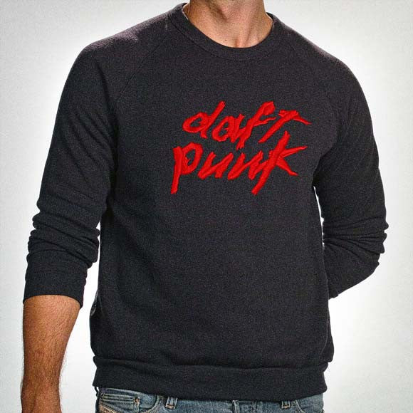 BLACK DAFT PUNK EMBROIDERED LOGO SWEATSHIRT