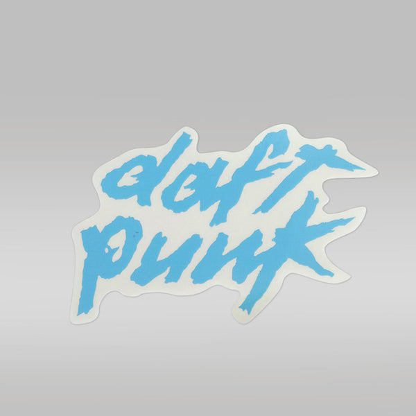 BLUE DAFT PUNK LOGO STICKER - SMALL