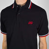 BLACK EMBROIDERED LOGO POLO SHIRT