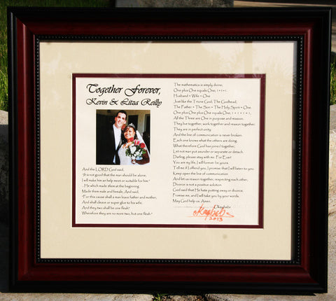 Together Forever Poem - Framed