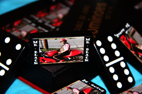 """Mr. Black"" Customized & Personalized Dominoes"