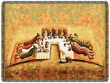 """The Lord's Last Supper"" Tapestry Throw (with Fringe)"