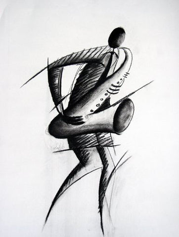 The Saxophonist (Offset Lithograph) *** $pecial Offer ***