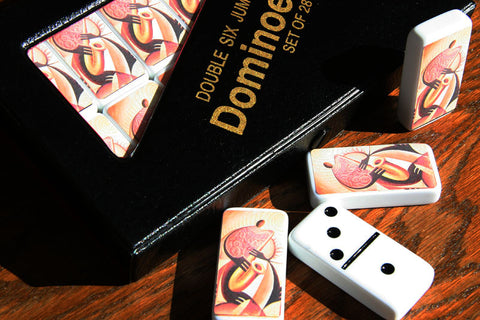 "White ""Sax"" Dominoes"