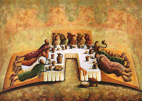 """The Lord's Last Supper"" Giclee on Canvas"