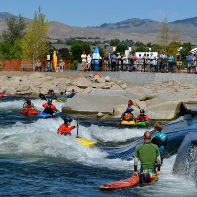 Boise River Park surf, kayak and SUP