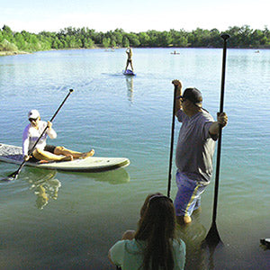 SUP and SUP Yoga at Quinn's Pond in Boise, Idaho