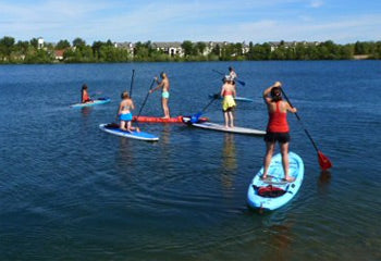 SUP classes on Quinn's Pond Boise