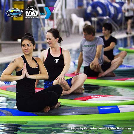 SUP intro and SUP yoga and Fitness at the West Boise Y