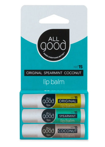 Assorted SPF 15 Lip Balms (3-Pack)