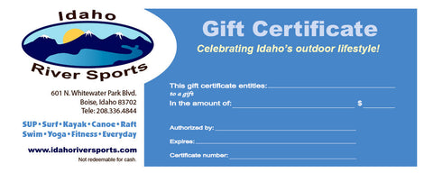 Idaho River Sports Gift Certificate