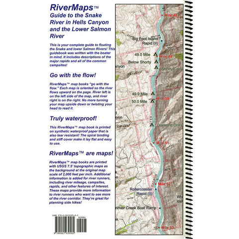 Rivermaps Hell S Canyon Lower Salmon Guide Book Idaho River Sports