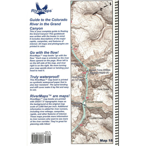 RiverMaps Colorado River in the Grand Canyon 6th Ed. Guide Book