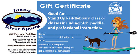 SUP Class Gift Certificate